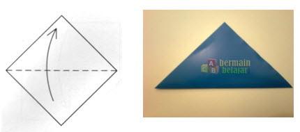 Membuat Origami Topi Samurai a