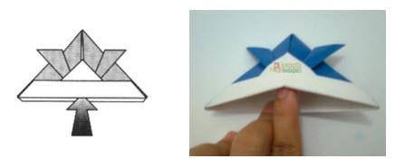 Membuat Origami Topi Samurai j