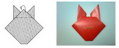 Membuat Origami Kelinci e