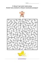 Maze Monyet Mencari Pisang_Menantang