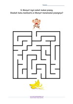 Maze Monyet Mencari Pisang_Mudah