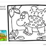 Lembar Mewarnai Dinosaurus