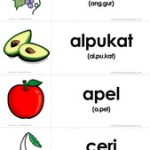 Flashcards Gratis: Buah-buahan