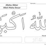 Mewarnai Kalimat Thayyibah: Allahu Akbar