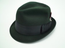 Adam Fifth Avenue New York Black Fur Felt Fedora Trilby Hat