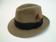 Vintage Royal Stetson Saxon Bark Color Fur Felt Fedora Hat