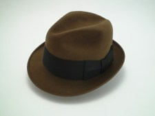 Dobbs Fifth Avenue Game Bird Brown Fur Felt Fedora Hat