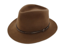 Stetson Gun Club Eddie Bauer Brown Fur Felt Cowboy Hat