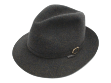 Royal Biltmore Traveller Grey Wool Felt Fedora Hat