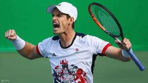 RIO DE JANEIRO, BRAZIL - AUGUST 12:  Andy Murray of Great Britain celebrates after defeating Steve Johnson of the United States 6-0, 4-6, 7-6 (2) in the Men's Singles Quarterfinal on Day 7 of the Rio 2016 Olympic Games at the Olympic Tennis Centre on August 12, 2016 in Rio de Janeiro, Brazil.  (Photo by Clive Brunskill/Getty Images)