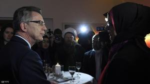 German Interior Minister Thomas de Maiziere (L) talks with representatives of islamic communities in Berlin before a meeting in Berlin, on December 15, 2014. AFP PHOTO / TOBIAS SCHWARZ (Photo credit should read TOBIAS SCHWARZ/AFP/Getty Images)