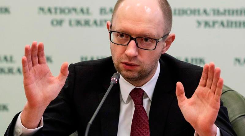 Ukraine's new Prime Minister Arseny Yatseniuk speaks during a news conference in Kiev February 28, 2014. Ukraine hopes to begin receiving international finiancial aid soon and is determined to fulfil conditions needed to secure support from the International Monetary Fund (IMF), Yatseniuk said on Friday.   REUTERS/Konstantin Chernichkin (UKRAINE - Tags: POLITICS CIVIL UNREST BUSINESS PROFILE)