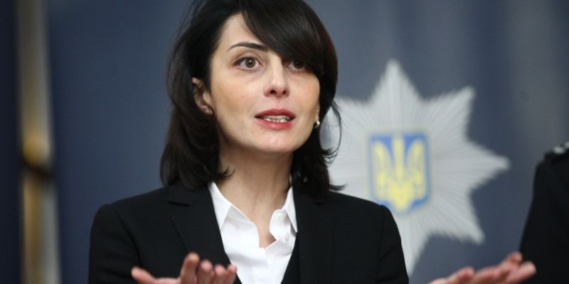 Khatia Dekanoidze, the head of the National Police of Ukraine,
