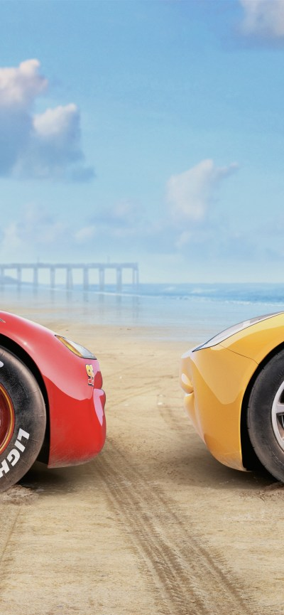 Cars 3, red and yellow car 1242x2688 iPhone XS Max wallpaper, background, picture, image