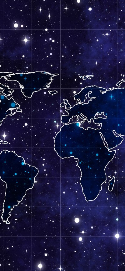 World Map, starry, space 1242x2688 iPhone XS Max wallpaper, background, picture, image