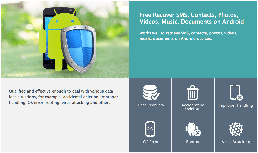 Recover lost data on android for free