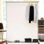 Garderobe mit Rollen als Raumteiler B008LSN1EK - 2
