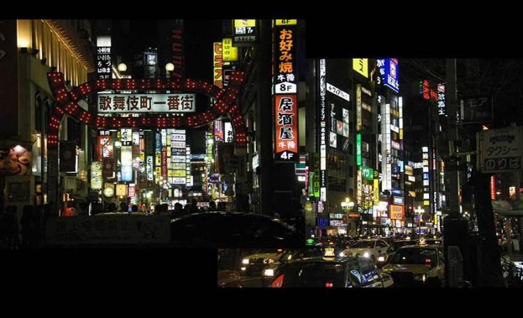 Leuchtreklame im nächtlichen Tokio
