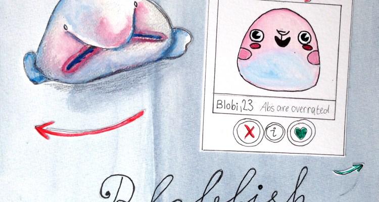 Die hässlichsten Tiere werden zu kawaiii characters: hier der Blobfish