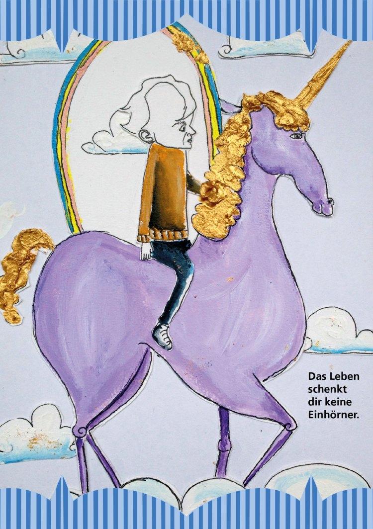 Du willst also Musiker werden 18 Regenbogen und Einhorn Illustration