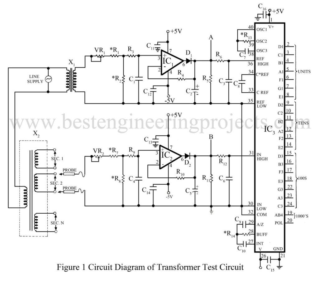 circuit diagram of transformer test circuit