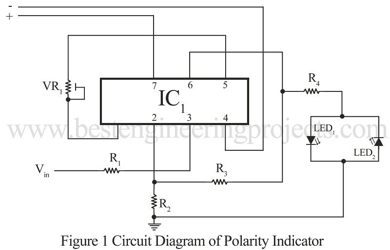 circuit diagram of polarity indicator