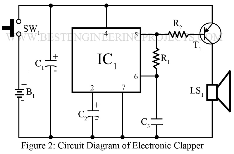 circuit diagram of electronic clapper