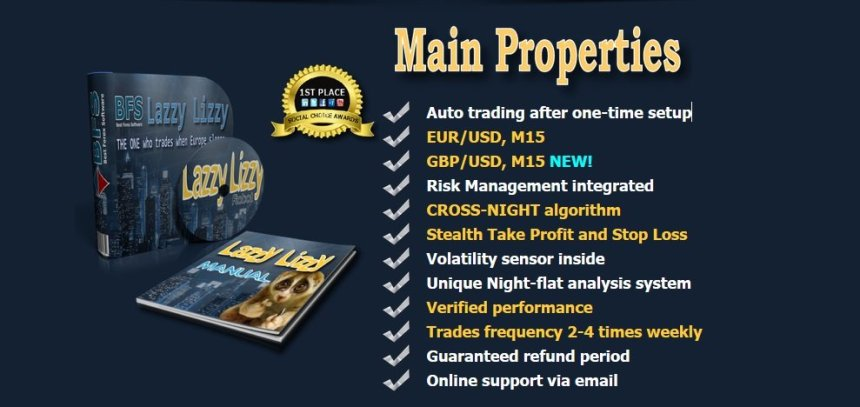 BFS Lazzy Lizzy Robot Review - Night Flat Forex Expert Advisor Created By BFS Best Forex Software