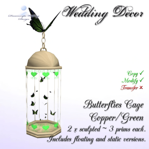 Butterflies Cage - Copper_Green - incl. floating & static cages