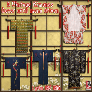 J 06) 5 Kimonos Decor PIC