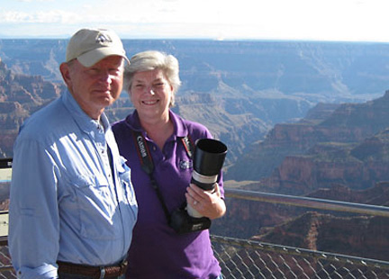 Bernie and Martha Marks on the North Rim of the Grand Canyon
