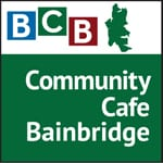Logo for podcast show Community Cafe Bainbridge Island