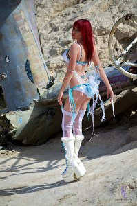 Hot Red Haired Girl in Lingerie Airplane Crash