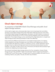 This investigate news compares cloud intent storage offerings from Dell EMC, Amazon, Google, and Microsoft