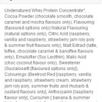 MyProtein Impact Whey Protein Ingredients