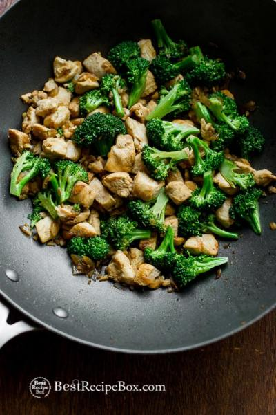 Chicken Broccoli Stir Fry Recipe that's Healthy, Easy and Low Carb