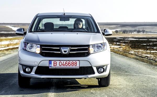 Dacia Logan Romania March 2013. Picture courtesy of www.autoevolution.com