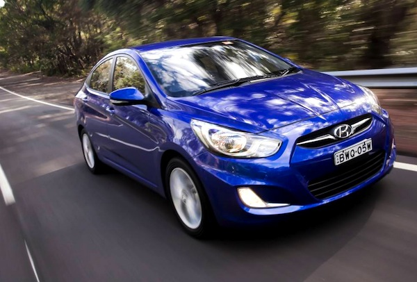 Hyundai Accent Nigeria 2014. Picture courtesy of themotorreport.com.au