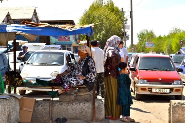 Bazaar in Karasuu Kyrgyzstan