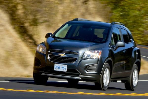 Chevrolet Tracker Paraguay 2015. Picture courtesy of caradvice.com.au