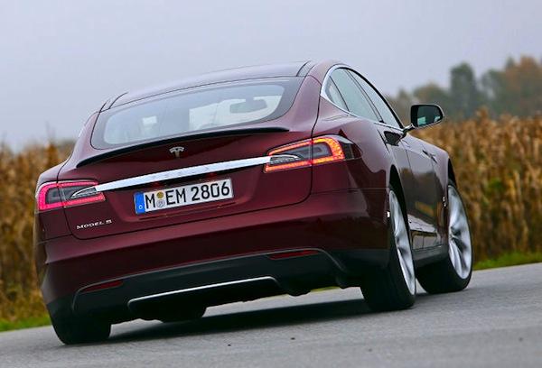 Tesla Model S Frankfurt Motor Show. Picture courtesy of Autobild.de