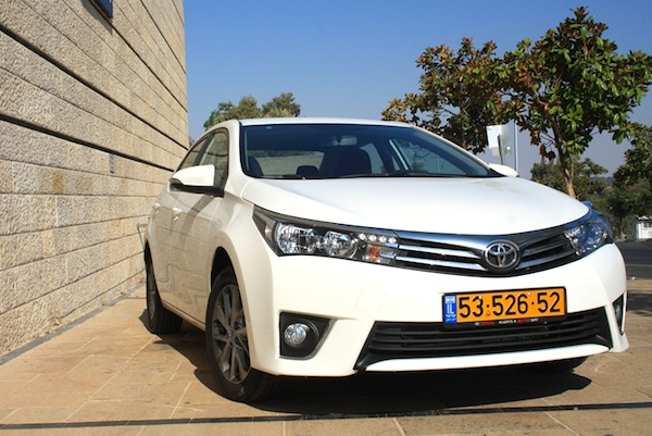 Toyota Corolla Israel February 2015. Picture courtesy of icar.co.il