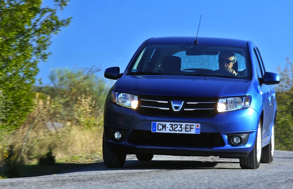 Dacia Sandero Europe September 2013. Picture courtesy of largus.fr