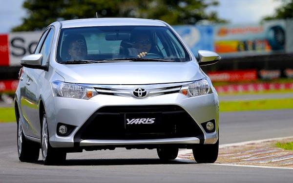Toyota Yaris sedan Egypt November 2013. Picture courtesy of mundomotorizado.com