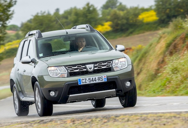 Dacia Duster Switzerland July 2016. Picture courtesy of largus.fr