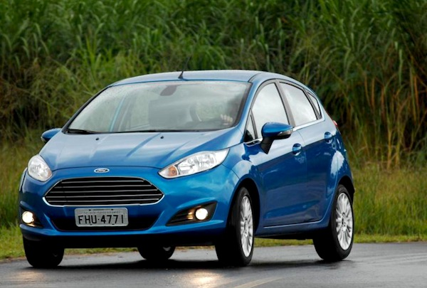 Ford Fiesta Argentina September 2014. Picture courtesy of temusados.com.br