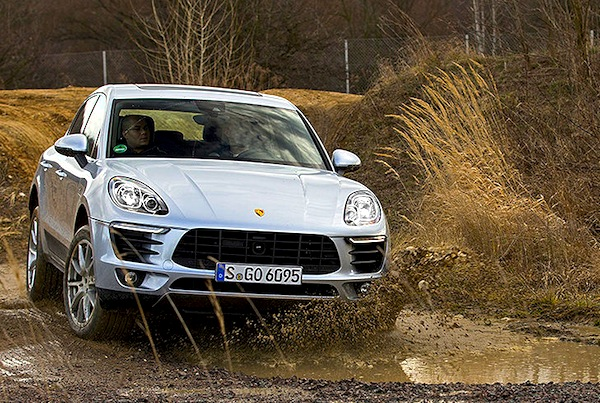 Porsche Macan Switzerland September 2014. Picture courtesy of autobild.de