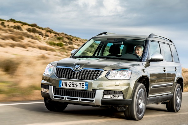 Skoda Yeti Latvia May 2014. Picture courtesy of largus.fr