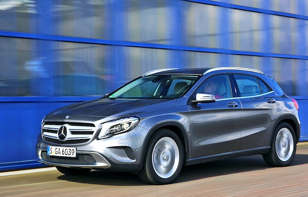 Mercedes GLA Switzerland 2014. Picture courtesy of autobild.de