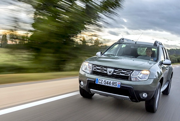 Dacia Duster Romania October 2014. Picture courtesy of largus.fr
